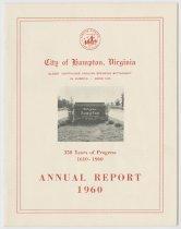 Image of 1986.9.12 - City of Hampton annual report, 1960