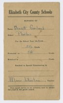 Image of 2002.4.9 - 1935 Phoebus Graded School report card promoting Bennett Garland to the third grade
