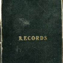 Image of Record book of the Mt. Battie Lodge #102 (Oddfellows)