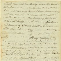 Image of Cushing Letter - June 25, 1805