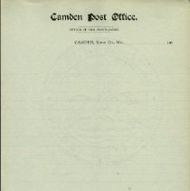 Image of Camden Post Office Stationery