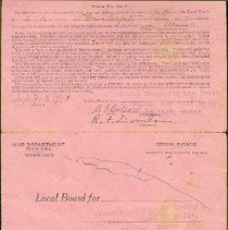 Image of Carver Draft Card