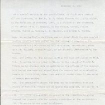 Image of Ordway Mtg Minutes, 1942