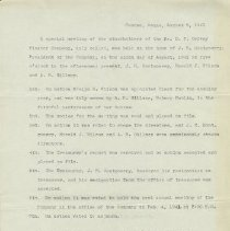 Image of Ordway Mtg Minutes, Aug. 1941