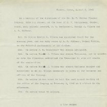 Image of Ordway Mtg Minutes, 1941