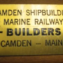 Image of Nameplate - CAHC 2008.29