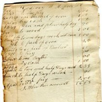 Image of page from the Hofses ledger book 1848