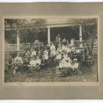 Image of Vinal family reunion, Rockport, August 1902