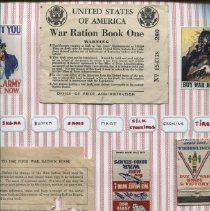 Image of WWII scrapbook by Barbara Dyer