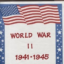 Image of Title page of WWII scrapbook by Barbara Dyer