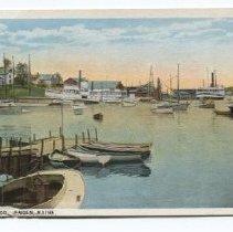 Image of Camden Harbor postcard