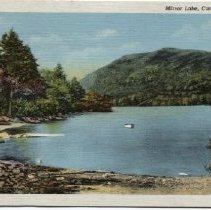 Image of Postcard of Mirror Lake, Camden