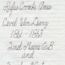 Image of Diary - CAHC 2006.16