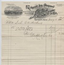Image of Rockport Ice Company receipt 3 May 1905