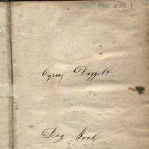 Image of ledger of blacksmith Cyrus Daggett 1846-1852