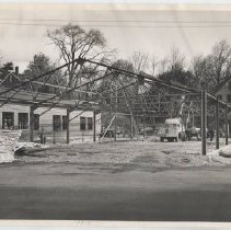 Image of New fire station construction on Washington Street in Camden, 1950