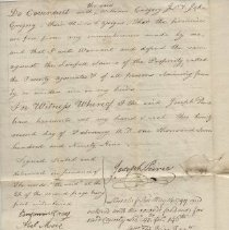 Image of Joseph Peirce quit claim deed 1799