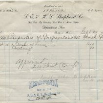 Image of Receipt for 6 casks of lime, 1914
