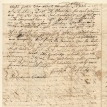 Image of Letter to Sylvanus Coombs & Samuel Simson 1840