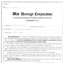 Image of war damage insurance policy 1943