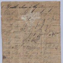Image of Handwriting practice 19 February 1828