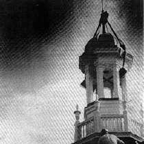 Image of Library Cupola Re-installed