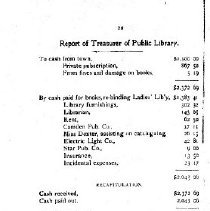 Image of Report of Treasurer
