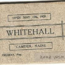 Image of Whitehall Inn promotional booklet