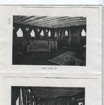 Image of Interior view of the Curtis yacht Lyndonia