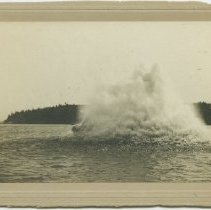 Image of Dynamite blast in Rockport harbor, 18 May 1912