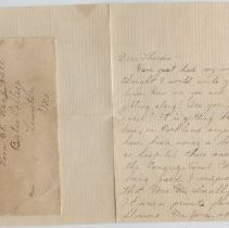 Image of Letter - WHC 2009.30