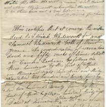 Image of 1835 deed from Jeremiah Wadsworth to Abiah & Samuel Wadsworth