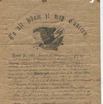 Image of Certificate - WHC 2009.182
