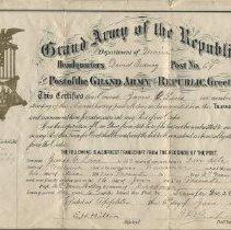 Image of Certificate, Membership - WHC 2009.182
