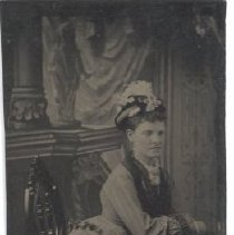 Image of Anna Coombs Mixer, wife of George A. Mixer, confectioner in Camden