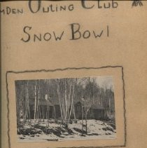 Image of Camden Snow Bowl scrapbook created by Margaret Thomas