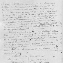 Image of Photocopy of pg 2 of 1832 petition to Congress for lighthouse at Negro Is.