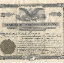 Image of Certificate, Stock - WHC 2010.27