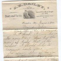 Image of Letter - WHC 2010.29