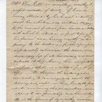 Image of Testimonial of voluntary monetary support of Ezra Cobb of Camden, 1825