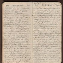 Image of Second page of Blanche Heald's diary, January 1890