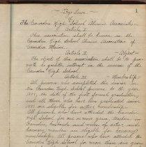 Image of Camden High School Alumni Association Secretary's notes 1922-1948