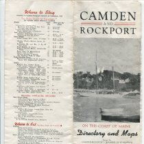 Image of 1947 Chamber of Commerce brochure and maps
