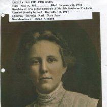 Image of Amelia Marie Erickson of Rockport and  wife of Stanley Ireland