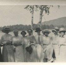Image of Photo from Thordis Heistad's scrapbooks; image taken at Meg. Lake