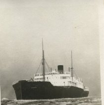 Image of Photo from Thordis Heistad's scrapbooks; Capt Husby's ship Capulin