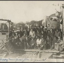 Image of Barnes & Pope marine subcontractors at the Camden shipyard, 1944