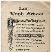 Image of Diploma - WHC 2015.32