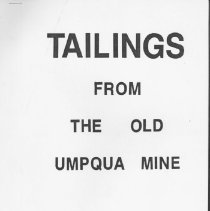 """Image of Hand written account of life at the """"Old Umpqua Mine"""" located in the Tiller area. Laura and her husband worked the mine - article"""