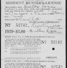 Image of Hunter's License 1939